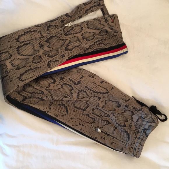 Pam & Gela Pants - Pam and gela snake print track pant